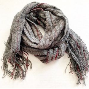 Made in Italy Woven Scarf Gray